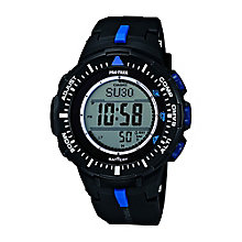 Casio Pro Trek Men's Black Dial Black Resin Strap Watch - Product number 3750833