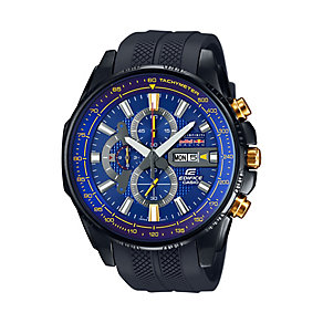 Casio Edifice Red Bull Men's Black Resin Strap Watch - Product number 3750884