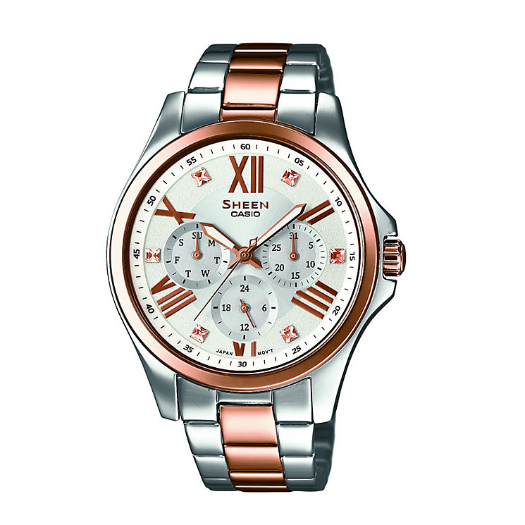 Casio Sheen Ladies' Two Colour Steel Bracelet Watch - Product number 3750957