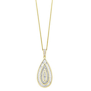 9ct gold 0.50ct diamond pendant with a concealed diamond - Product number 3751775