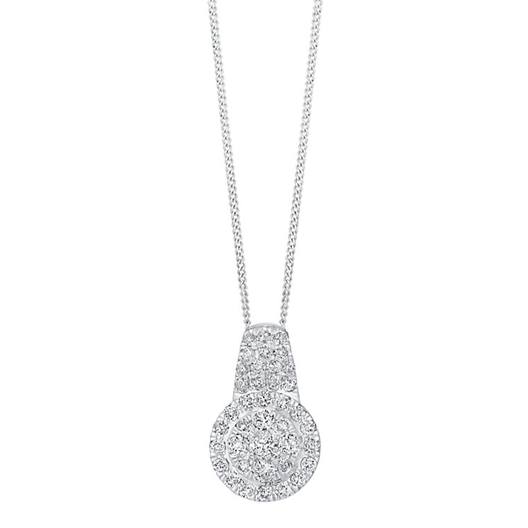 18ct white gold 1ct diamond pendant with concealed diamond - Product number 3751813