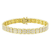 9ct gold 2ct diamond bracelet with concealed diamond - Product number 3751937