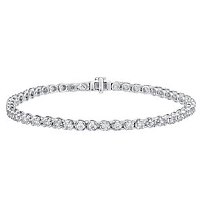 18ct white gold 3ct I1 certificated diamond bracelet - Product number 3751945