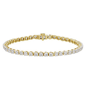 18ct gold 3ct I1 certificated diamond bracelet - Product number 3751988