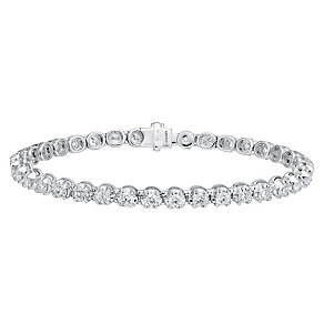 18ct white gold 5ct I1 certificated diamond bracelet - Product number 3751996