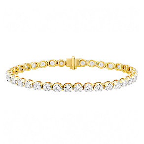 18ct gold 5ct I1 certificated diamond bracelet - Product number 3752003