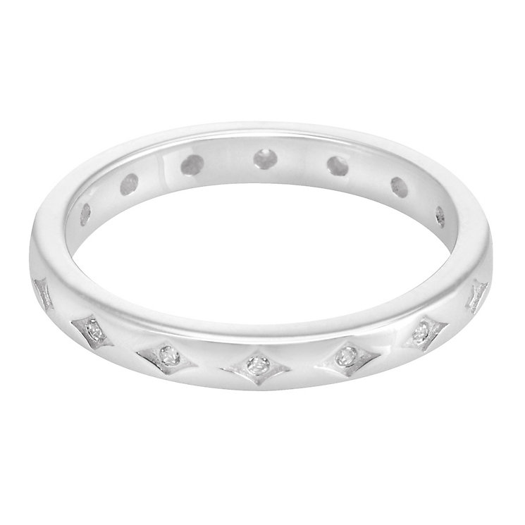 Chamilia Sterling Silver Starry Eyed Stacking Ring XL - Product number 3755266