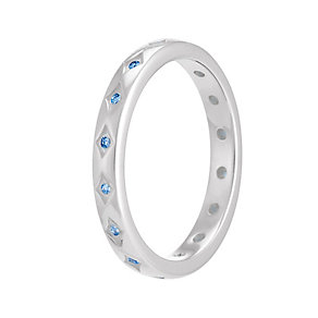 Chamilia Artic Blue Starry Eyed Stacking Ring Small - Product number 3755398