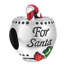 Chamilia Sterling Silver & Enamel Santa's Brew Bead - Product number 3756815