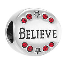 Chamilia Sterling Silver Stone Set Believe In Santa Bead - Product number 3756831