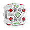 Chamilia Sterling Queen Of Hearts Stone Set Bead - Product number 3756882