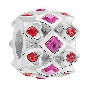Chamilia Sterling Queen Of Hearts Stone Set Bead - Product number 3756890