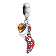 Chamilia Sterling Silver Stone Set Sparkling Stocking Bead - Product number 3757013