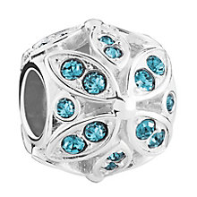 Chamilia Sterling Silver Stone Set Floral Accents Bead - Product number 3757048