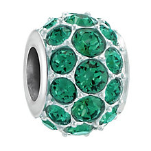 Chamilia Splendour Sterling Silver Emerald Swarovski Bead - Product number 3757110