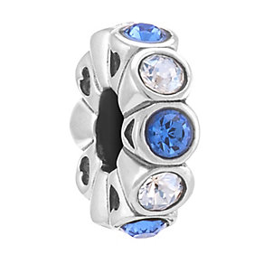 Chamilia Sterling Silver Whimsy Sapphire & Crystal Moon Bead - Product number 3757129