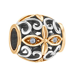 Chamilia Sterling Silver Le Fleur Crystal Moon Bead - Product number 3757161