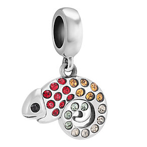 Chamilia Sterling Silver Stone Set Chameleon Charm Bead - Product number 3757315