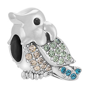 Chamilia Sterling Silver Stone Set Cheeky Tiki Bead - Product number 3757323