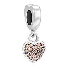Chamilia Sterling Silver Golden Shadow Petite Heart Bead - Product number 3757374