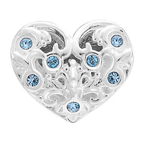Chamilia Sterling Silver Stone Set Sisters Heart Bead - Product number 3757412