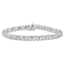 9ct white gold 2ct diamond bracelet - Product number 3757633