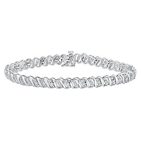 9ct white gold 2ct diamond bracelet - Product number 3757633