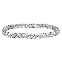 9ct white gold 2ct diamond bracelet - Product number 3757641