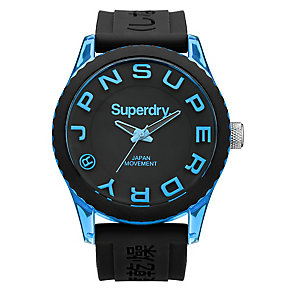 Superdry Men's Black And Blue Silicone Watch - Product number 3757765