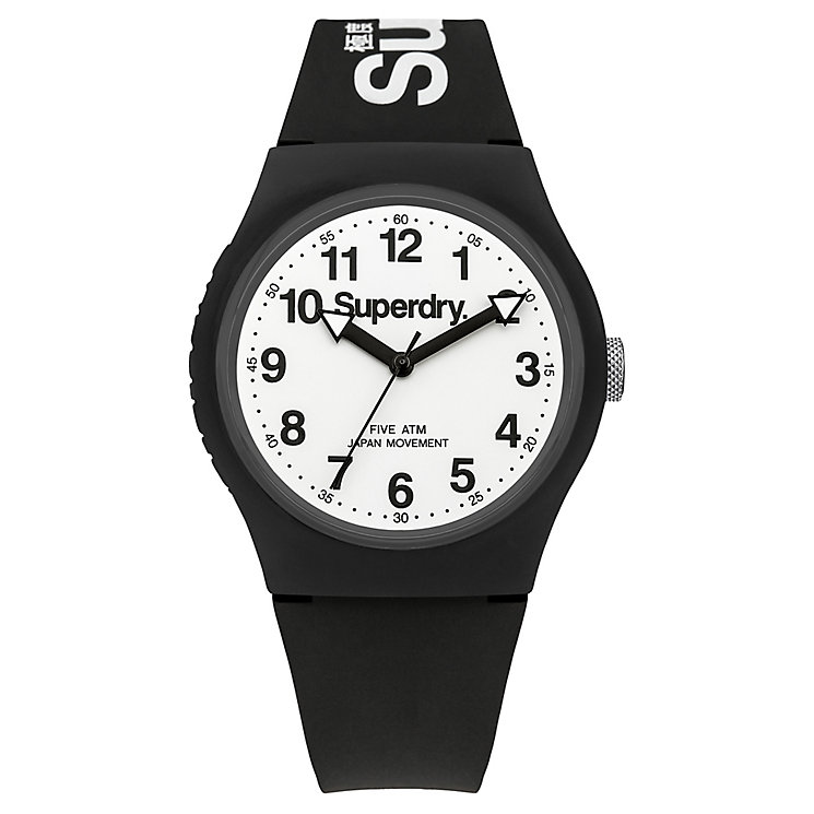 Superdry Men's Urban Black And White Slim Silicone Watch - Product number 3757773