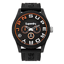 Superdry Men's Black Dial Black Silicone Strap Watch - Product number 3757951