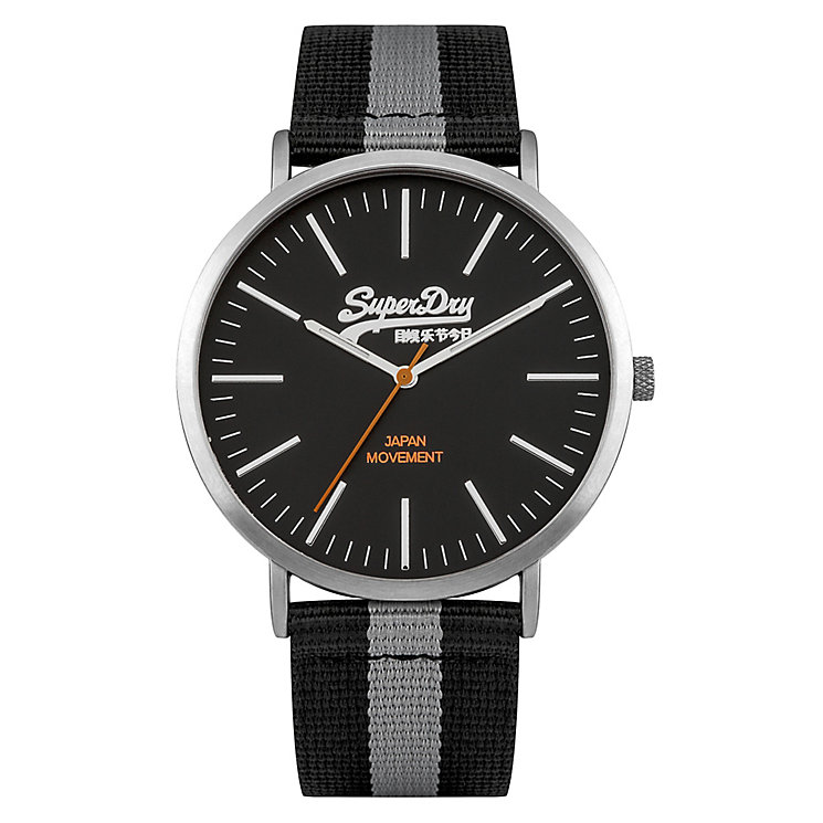 Superdry Men's Black Dial with Two Tone Strap Watch - Product number 3757978