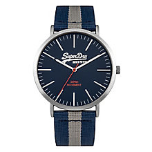 Superdry Men's Blue Dial with Two Tone Strap Watch - Product number 3757986