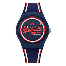 Superdry Men's Navy Dial Navy Silicone Strap Watch - Product number 3758001