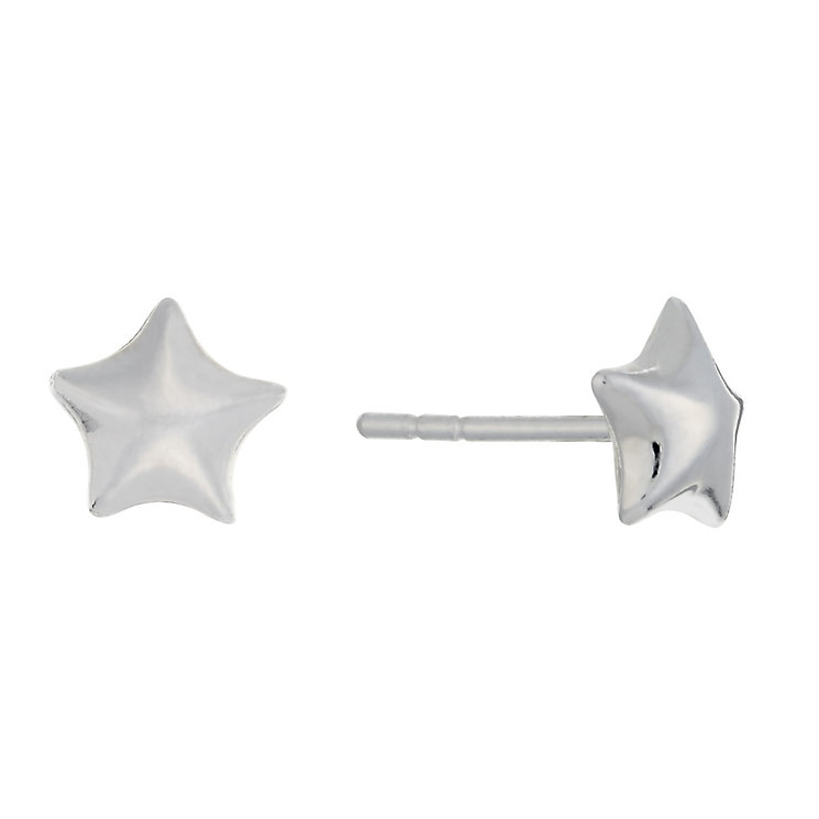 Sterling Silver Star Stud Earrings - Product number 3759628