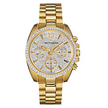 Wittnauer Lucy ladies' gold-plated stone set watch - Product number 3760197