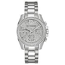 Wittnauer Lucy ladies' stainless steel stone set watch - Product number 3760219