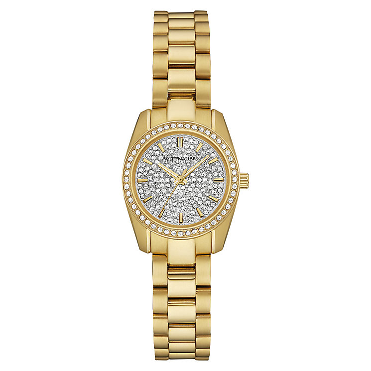 Wittnauer Lucy Mini ladies gold-plated stone set watch - Product number 3760243