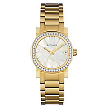 Wittnauer Adele ladies' gold-plated stone set watch - Product number 3760324