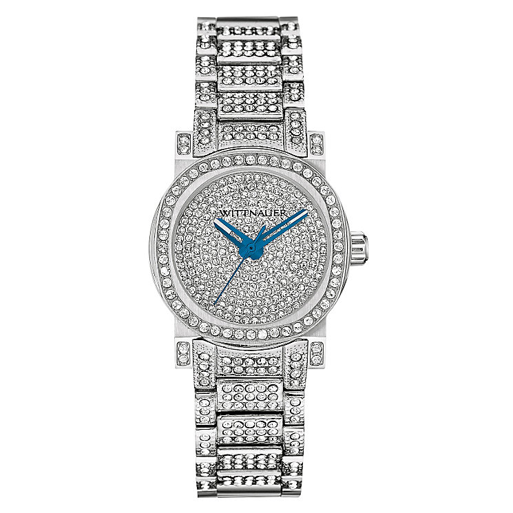 Wittnauer Adele ladies' stainless steel stone set watch - Product number 3760332