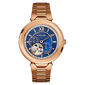 Wittnauer Taylor ladies' rose gold-plated stone set watch - Product number 3760421