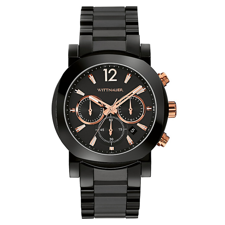 Wittnauer Aiden men's black ion plated bracelet watch - Product number 3760510