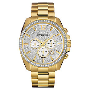 Wittnauer Lucas men's yellow gold plate bracelet watch - Product number 3760596