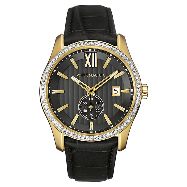 Wittnauer Michael men's yellow gold-plate strap watch - Product number 3760626