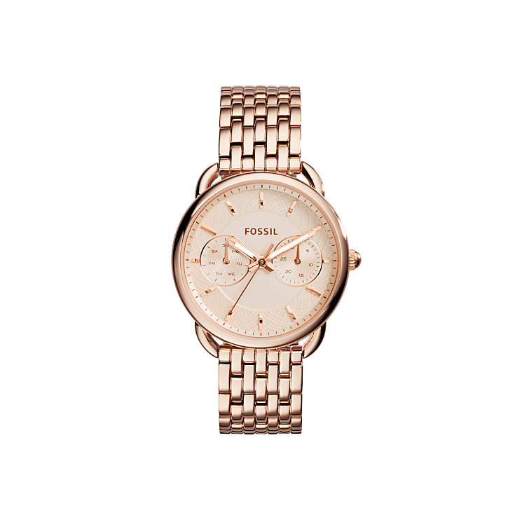 Fossil Tailor ladies' rose gold-tone bracelet watch - Product number 3760723