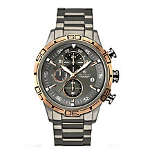 Accurist Men's Stainless Steel Silver Dial Bracelet Watch - Product number 3760790