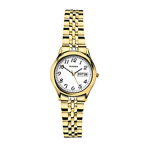 Sekonda Ladies' White Dial Gold-Plated Bracelet Watch - Product number 3760979