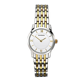 Sekonda Ladies' Two Colour Stainless Steel Bracelet Watch - Product number 3761002