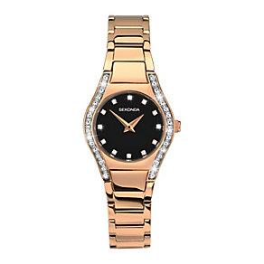 Sekonda Ladies' Aurora Rose Gold-Plated Bracelet Watch - Product number 3761029