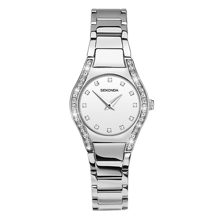 Sekonda Ladies' Stone Set Stainless Steel Bracelet Watch - Product number 3761045